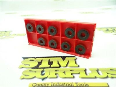 9 New Sandvik Solid Carbide Round Indexable Inserts Model Rnmg 120400 4235