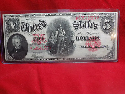 Series of 1907 Woodchopper $5 U.S Note Red Seal Large Size Legal Tender
