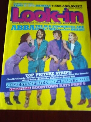 LOOK IN26th JUL 1980. FRONT COVER  ABBA.