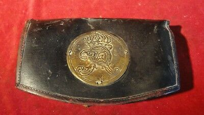 Great 1793 Prussian/ German State Cartridge Box With Front Brass Plate