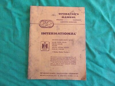 Vintage 1961 International  Harvester Truck operators Manual Rare!   Lot-18-78-2