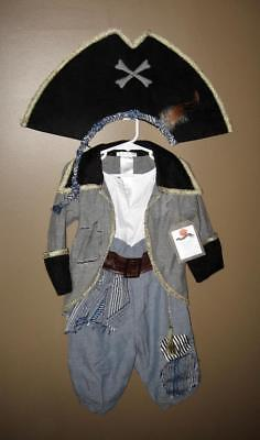NWT ~ Pottery Barn Kids 3 Piece PIRATE Halloween Costume Toddler Boys 3T
