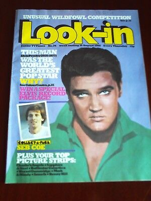 LOOK IN 16th AUG1980. FRONT COVER  ELVIS PRESLEY.