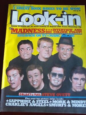 LOOK IN 23rd  AUG1980. FRONT COVER MADNESS.