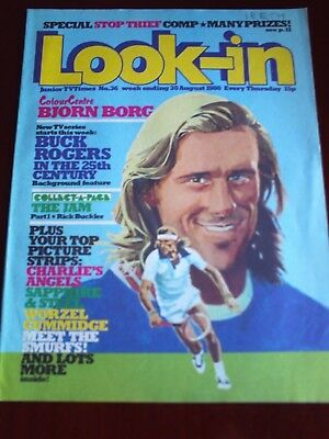 LOOK IN 30th  AUG1980. FRONT COVER BJORN BORG.