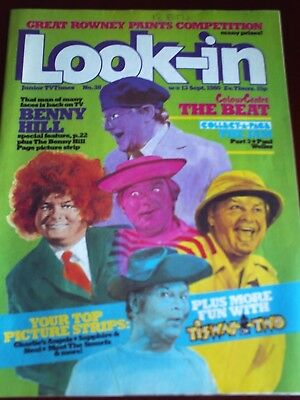 LOOK IN 13th SEPT 1980. FRONT COVER BENNY HILL.