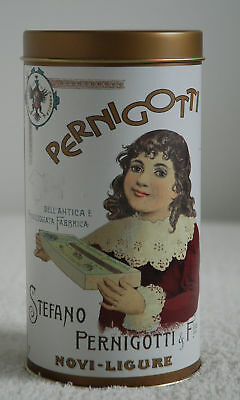 Italian Pernigotti Cookie/chocolate Tin-Decorative Storage Container Cannister