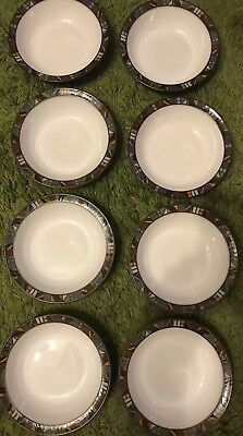 Denby Marrakesh Cereal Bowls X 8 First Quality Immaculate