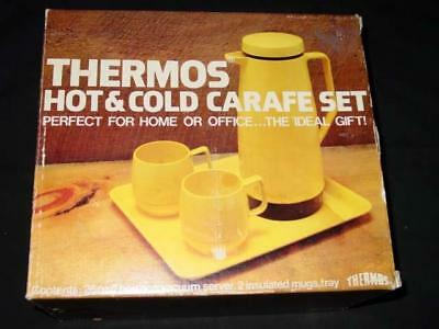 Vintage - THERMOS - Hot & Cold CARAFE SET   (Ivory) Thermos & 2 Mugs (Sealed)