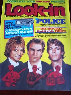 LOOK IN 4th OCT 1980. FRONT COVER THE POLICE.,