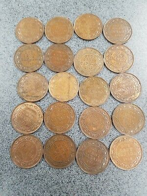 Lot of 20 - 1912 Canadian Large Cents - All high grade