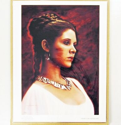 Star Wars A New Hope Princess Leia TEARS FOR ALDERAAN Giclee Print LE 54/125