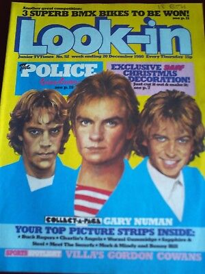 LOOK IN 20th DEC 1980. FRONT COVER POLICE.