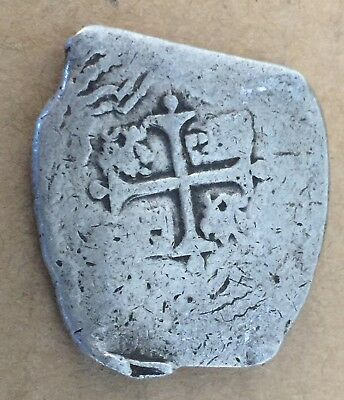 1600s Spanish Spain 8 Reales Real Cob Silver Coin Colonial Treasure Coin 27.50 g