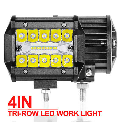 2x 4inch CREE LED Work Light Bar Spot Flood OffRoad Driving Reverse Lamp 4WD 60W
