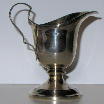 Sterling Silver Cream/Milk Jug by Saunders and Shephard, Birmingham 1912
