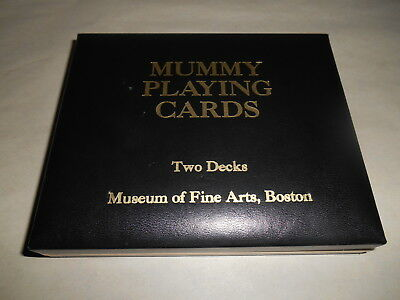EGYPTIAN MUMMY SHAPED PLAYING CARDS FROM MUSEUM OF FINE ARTS, BOSTON 2 Decks