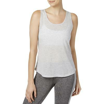 Ideology Womens Gray Fitness Breathability Tank Top Athletic L BHFO 0267
