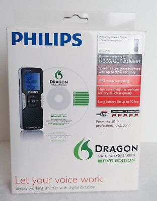 Philips LFH600 1GB Voice Tracer digital recorder Mic stereo/speech recognition