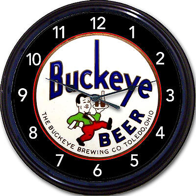 """Buckeye Brewing Co Toledo OH Tap Handle Beer Wall Clock Ale Lager Man Cave 10"""""""