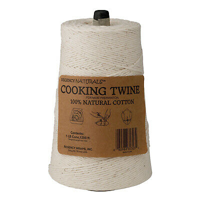 Regency Cooking Butcher's Twine for Meat and Trussing Turkey, 100% Cotton, 1 LB