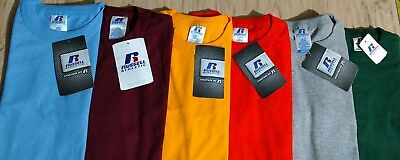 NWT Russell Athletic NuBlend Lot 6 blank t-shirts size L Large Youth Crafts HTV