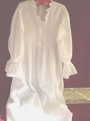 Pretty Vintage Nightdress Pintucks & Whitework Emb.