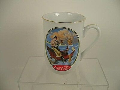 Coca Cola NC Wyeth Inspired AT THE SEASHORE Handled Ceramic Mug Coffee Cup