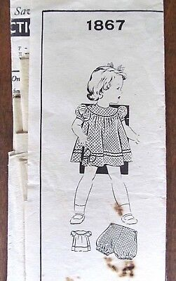 Childs's Mail Order Size 1 Sewing Pattern (1867) Sewing Circle/Barbara Bell
