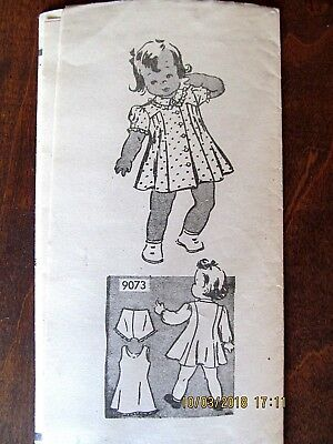 Umarked Girl's Dress, Slip, and Pantie Mail Order Size 1 Sewing Pattern (9073)