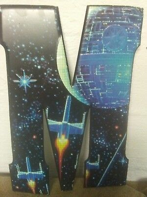 STAR WARS X-Wing Fighter Space Station Letter M