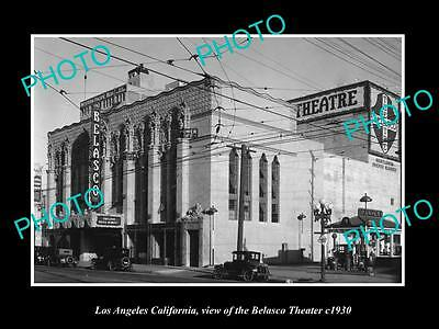 OLD LARGE HISTORIC PHOTO OF LOS ANGELES CALIFORNIA, THE BELASCO THEATER c1930
