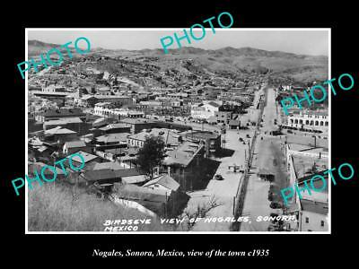 OLD LARGE HISTORIC PHOTO OF NOGALES SONORA MEXICO, VIEW OF THE TOWN c1935