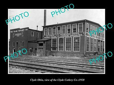 OLD LARGE HISTORIC PHOTO OF CLYDE OHIO, THE CLYDE CUTLERY Co FACTORY c1920