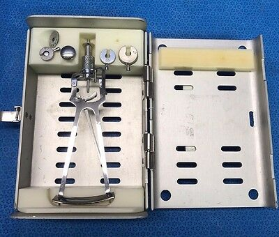 Karl Storz E5754-I, 5-Piece Shioetz Tonometer w/ Sterilization Case, Ophthalmic