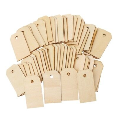 50pcs Blank Unfinished Wood Tags Wooden Gift Tags for Wedding Party Favors