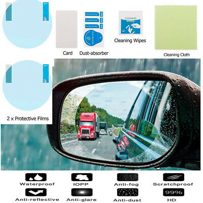 2PCS Universal Car Anti Fog Rainproof Rearview Mirror Protective Film Cover
