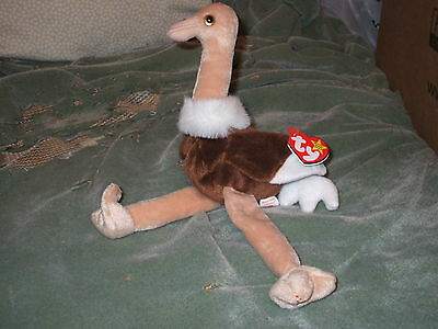 Ty Beanie Babies - Stretch the Ostrich