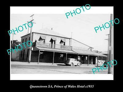 OLD LARGE HISTORICAL PHOTO OF THE PRINCE OF WALES HOTEL, QUEENSTOWN SA c1935