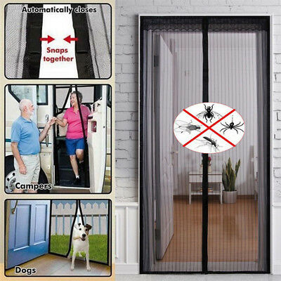 Hands Free Mosquito Door Net Mesh Screen Bug Fly Pet Patio Magnetic Magic Closer