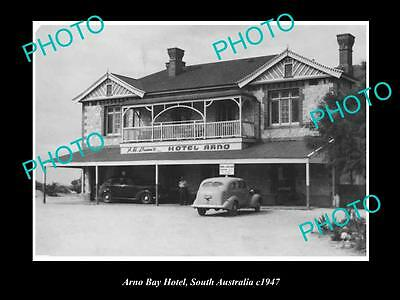 OLD LARGE HISTORICAL PHOTO OF THE ARNO BAY HOTEL, SOUTH AUSTRALIA c1947