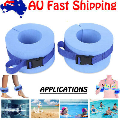 2pcs Paired Swimming Water Aerobics Weight Aquatic Cuffs for Ankle Arm Wrist AU