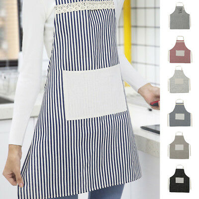 Cooksmart Cotton Linen Apron with Pocket Home Cooking Baking Kitchen Chef