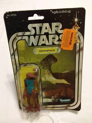 Vintage 1978 Star Wars Hammerhead 21 Back Opened Cardback Bubble Figure Blaster