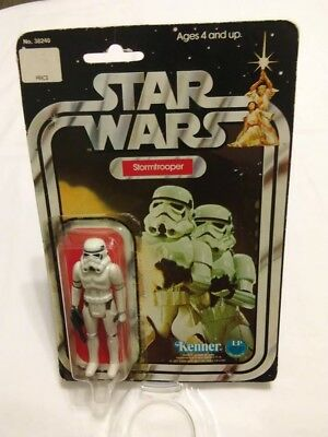 "Vintage 1978 Star Wars Stormtrooper 12 Back ""B"" Card Open Bubble Figure Blaster"