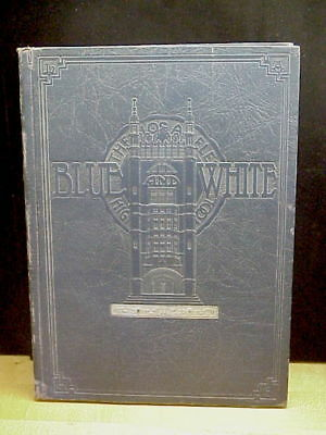 Vintage Los Angeles High School Yearbook, Blue and White 1930