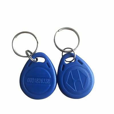 YARONGTECH 125khz key fob access rfid tag em4100 (pack of 10) (Blue) Blue New