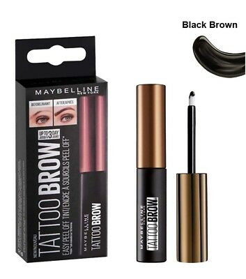 MAYBELLINE TATTOO BROW Tinta per Sopracciglia black brown peel off make up donna