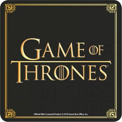 OFFICIAL HBO GAME OF THRONES Logo/Title Cork Drinks Coaster/Mat Gift/Collectable
