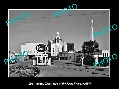 OLD LARGE HISTORIC PHOTO OF SAN ANTONIO TEXAS, THE PEARL BEER BREWERY c1970